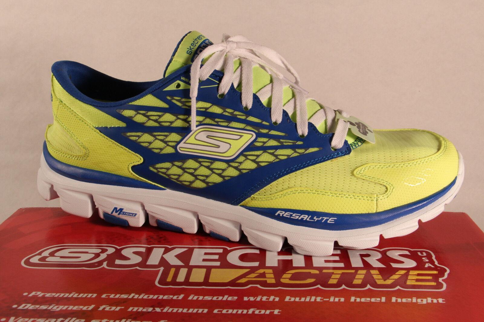 Scarpe casual da uomo  Skechers Uomo Scarpe con lacci Pantofola da Ginnastica Basse Giallo neon NUOVO