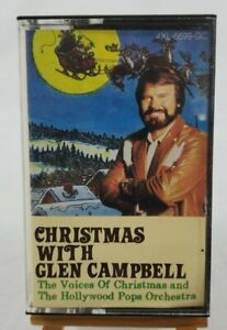 """VINTAGE """"Christmas With Glen Campbell"""" Cassette Capitol Records #4XL6699GC 1989"""