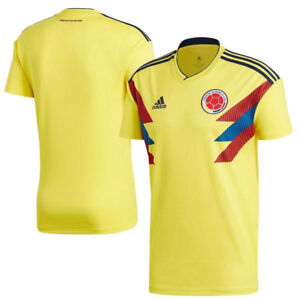brand new e9825 dad58 Details about ADIDAS Colombia World Cup 2018 | Home Jersey James, Falcao,  Mina | Medium NEW