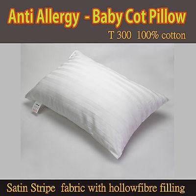 Bello Baby Lettino Cuscino T300 100% Cotone Satinstripe Tessuto Con Imbottitura Hollowfibre-ler Comfort Filled Pillow It-it Mostra Il Titolo Originale