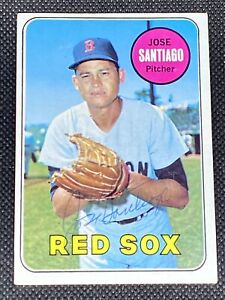 Jose Santiago Red Sox Signed Auto Autographed 1969 Topps Card #21 ~ COA