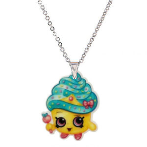 SHOPKINS Season 1 Necklaces, 10 Characters Yo Chi,Cupcake Queen,Kooky  Cookie Etc