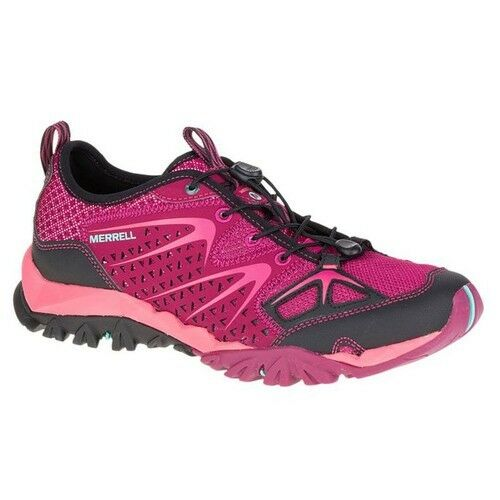 Merrell Capra Rapid Womens Mesh Toggle Hiking Walking Bright Red Trainers Shoes