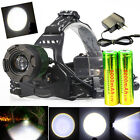 6000Lumen CREE XM-L T6 Led Headlamp Headlight Flashlight+2X18650 Battery+Charger