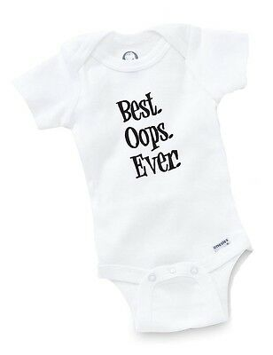 Best Oops Ever Onesie Baby Shower Gift Geek Funny Cute Geek Custom Bodysuit