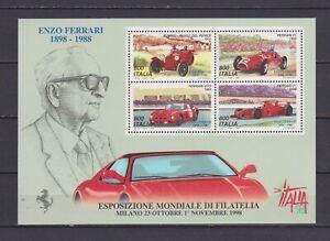 s17363-ITALIA-MNH-1998-Ferrari-Italia-039-98-Expo-BF-S-S