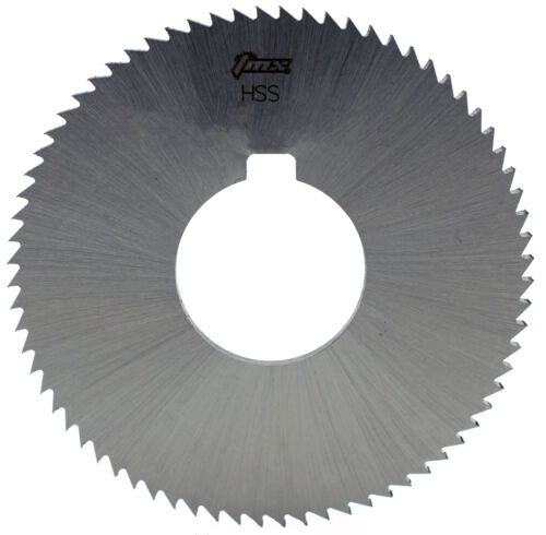 ".020/"" Thick x 2-1//4/"" Diameter x 5//8/"" Arbor Hole 60 Teeth HSS Screw Slotting Saw"
