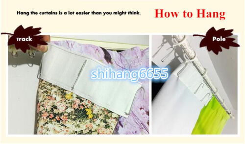Colorful Blooming Flowers Wedding Theme 3D Window Curtains Blockout Drape Fabric