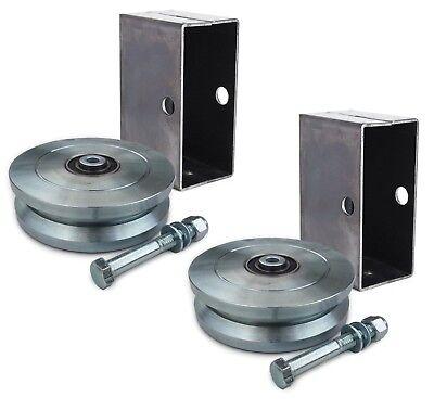 "4/"" 6/""  V-Groove Sliding Gate Wheel Zinc Plated 3,000 lb Capacity"