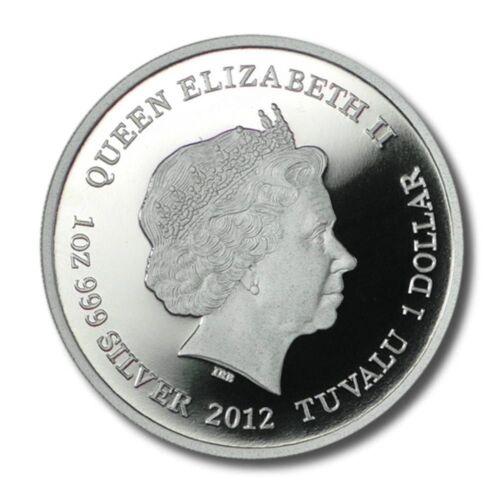 Tuvalu 2012 $1 TASMANIAN WEDGE TAILED EAGLE 1oz Silver Proof Coin