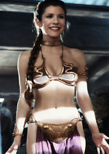 Movie PHOTO 8.25x11.75 Princess Leia Carrie Fisher Jabba?s Slave Bikini 03