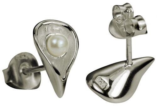 SILBERMOOS Damen Stecker Ohrringe Schmuck Haken Ohrhänger 925 Sterling Silber