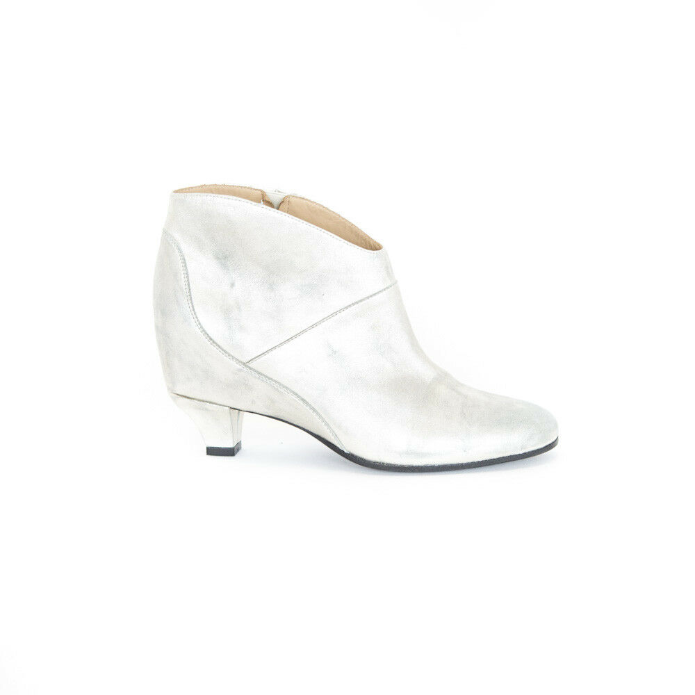 Golden Goose | Silver Leather Ankle Boots size