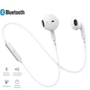 Wireless Bluetooth Earphones Noise Cancelling Headset Neckband Life Sport Stereo Ebay