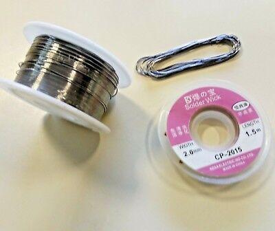 Rouleau de tresse à dessouder largeur 2 mm longeur 1,5 m Soudure Arduino DIY