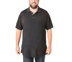 Details about *NEW* KingSize Men's Big & Tall Longer-Length Piqué Polo Shirt, 2XL Big, BN2818