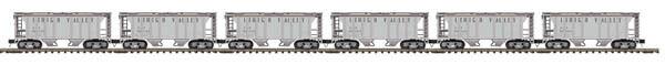 2012 MTH 20-90804 Lehigh Valley  6-Car setPs-2 Hopper Car Set new in the box