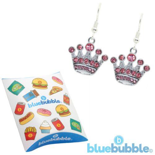 Bluebubble mi princesa pendientes BLING Boda Tiara Novia De Colección Hadas Royal Queen