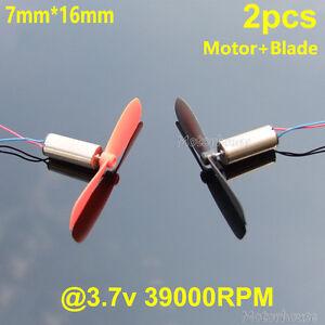 2pcs DC 3.7V 45000RPM Mini Coreless Motor helicóptero Quadcopter RC Drone