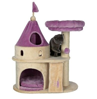 Trixie Pet Products My Kitty Darling scratching castle, 90 cm, beige/purple NEW