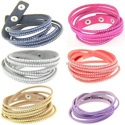 Wholesale 6color fashion simple Suede Leather Bracelet size is adjustable