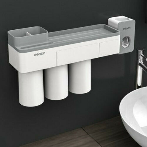 Bathroom Accessories Storage Rack with 3 Cups Neu Wall Mount Toothbrush Holder
