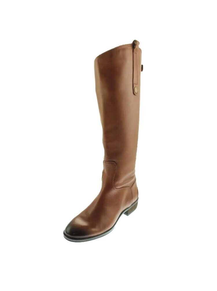 Sam Edelman Penny Whiskey Lea Brown Riding Boots 5.5 Med NWB