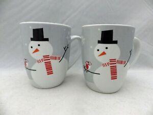Rachael-Ray-set-lot-of-2-Little-Hoot-and-Snowman-Coffee-Chocolate-cups-EUC