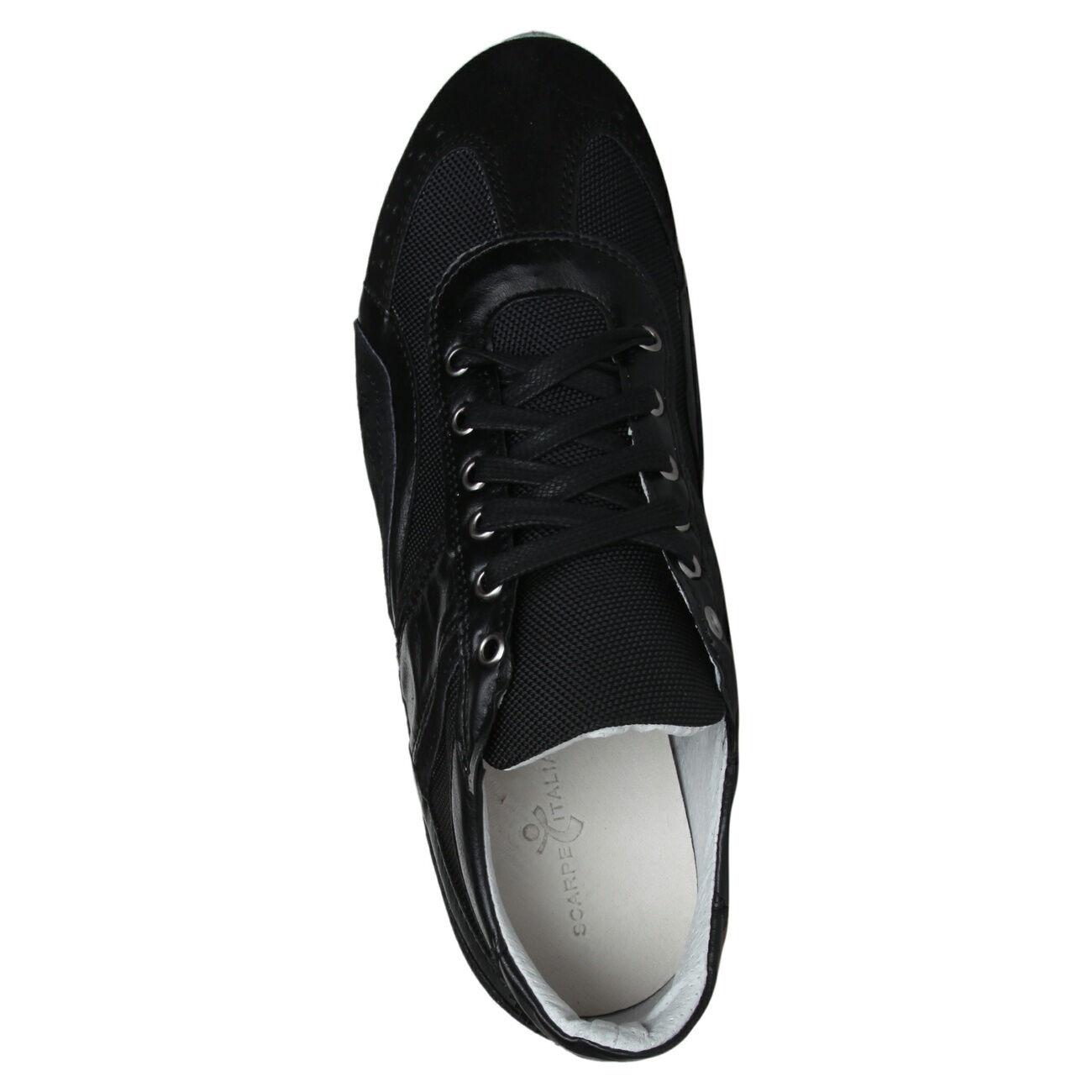 Schuhe Italiane Herren Sneakers Schuhe Sneakers Herren Freizeitschuhe, Schwarz, df4047