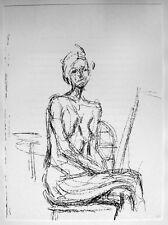 Alberto Giacometti: Akt Nude Nackte Frau sitzend Lithographie 1961 WV Lust 151
