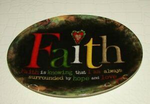 Carson Home Accents FAITH Religious Spiritual Home Décor Trinket Dish