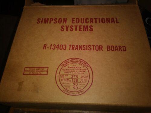 Simpson Educational System R13403 Transistor Bread Board NOS