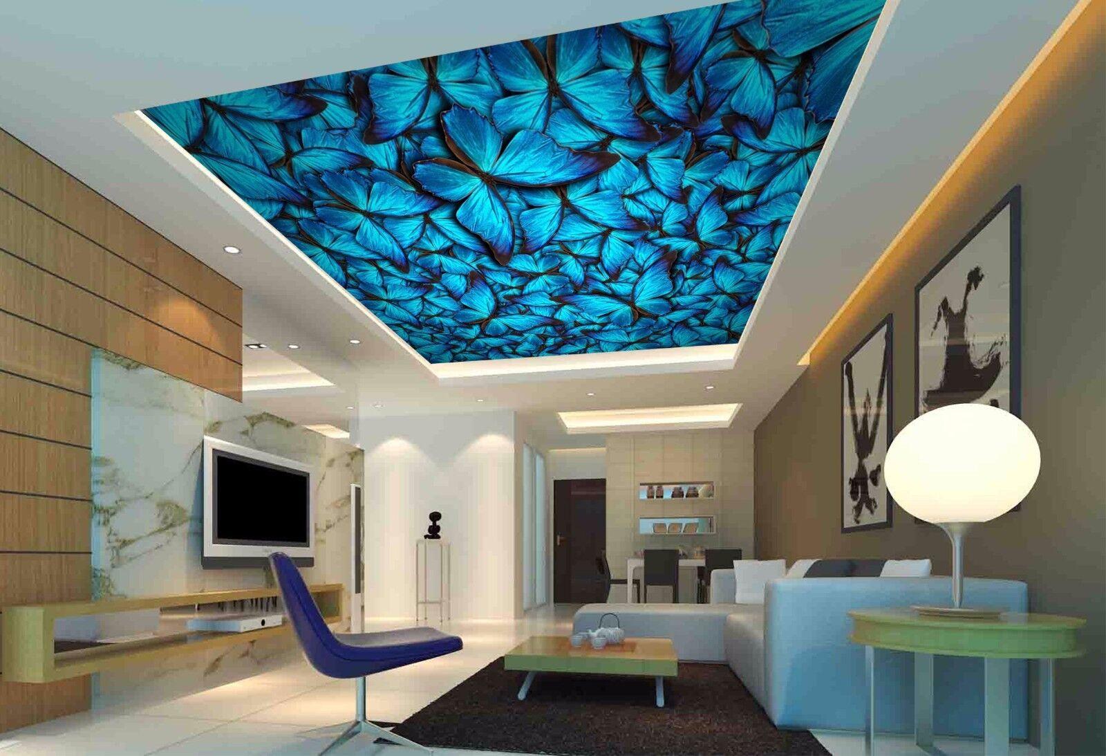 3D Butterflys 732 Ceiling WallPaper Murals Wall Print Decal Deco AJ WALLPAPER GB