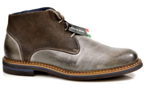 Nicola Benson Messieurs Comfort Chaussures bottes boots chaussures gris à la mode en cuir NEUF