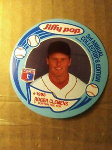 1988-MSA-Jiffy-Pop-Discs-Baseball-Card-6-Roger-Clemens-Boston-Red-sox-Vintage