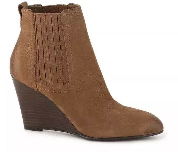 Sam Edelman Gillian Ankle Ankle Ankle Boot Bootie Women's Size 8 1 2 Brown Suede Leather e959e2