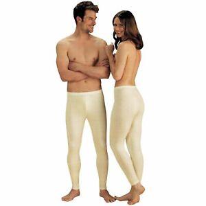 SCHAFWOLLE Unterhose Damen Herren Unisex Beige Unterwäsche Hose Schurwolle