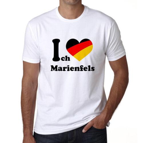 Cadeau Blanc Herren Tshirt Homme Tshirt I Love Marienfels