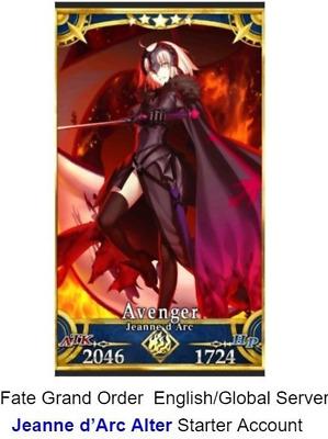 Fate Grand Order NA English Global Starter Account Jalter FGO Jeanne alter