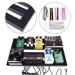 18 5 39 39 x 10 6 guitar effect pedal board with glued loop diy setup tapes clamp ebay. Black Bedroom Furniture Sets. Home Design Ideas