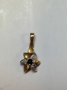 14K-Sold-Gold-Sapphire-and-Diamond-Pendent