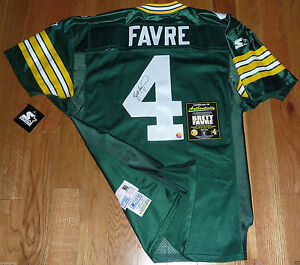 online store e8155 8efe3 Details about GREEN BAY PACKERS BRETT FAVRE SIGNED STARTER PRO LINE  AUTHENTIC JERSEY FARVE COA