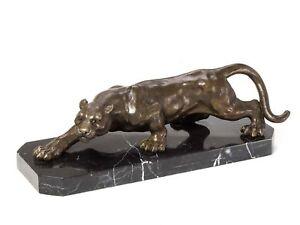 Bronze-Skulptur-Panther-Leopard-Bronzefigur-Bronzeskulptur-Antik-Stil-sculpture