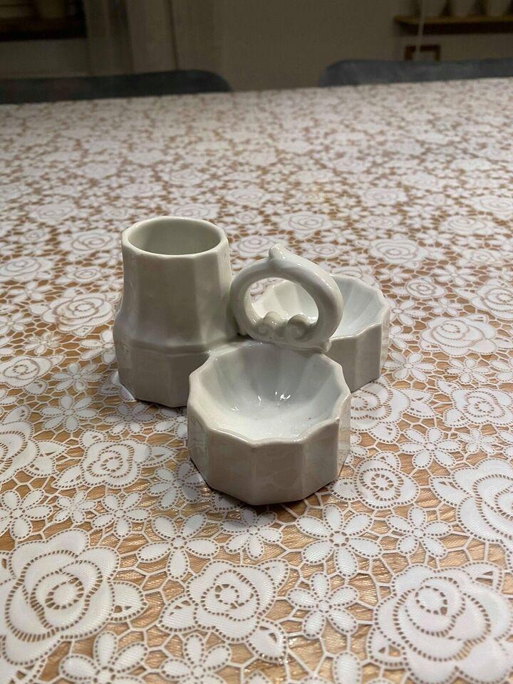 Porcelæn, Salt, peber og sennep