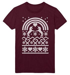 f4667835 Unicorn Christmas T Shirt Funny Ugly Rainbows Men Women Kids Tee Top ...