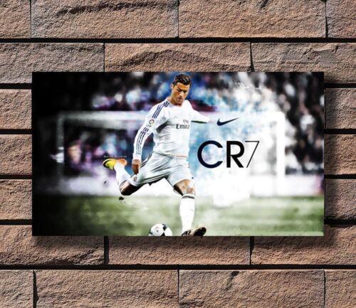 P1733 Art Cristiano Ronaldo Football Soccer Star Poster Hot Gift 14x21 24x36