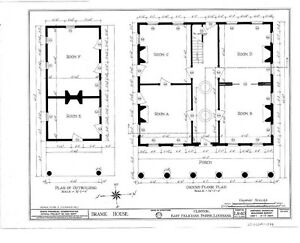 Southern style antebellum small home design architectural for 28x28 cabin plans