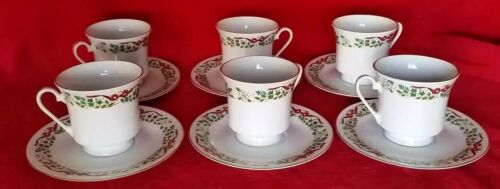 12 Days of Christmas Tea Cup Coffee and Saucers Replacements Domestications