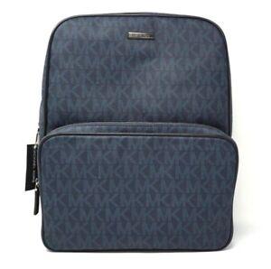 dce5e0d745db Michael Kors Men's Jet Set Signature Logo Baltic Blue Backpack Bag ...