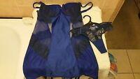 Ann Summers Heidi Cobolt Blue Suspender Cami 10 + Thong Size 8